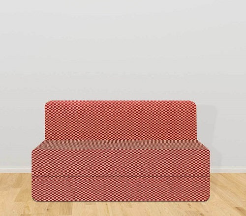 Cotrise Sofa Bed (4' X 6')  | Check Red