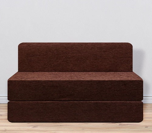 Molfino Sofa Bed (4' x 6') - Chocolate Brown Pattern