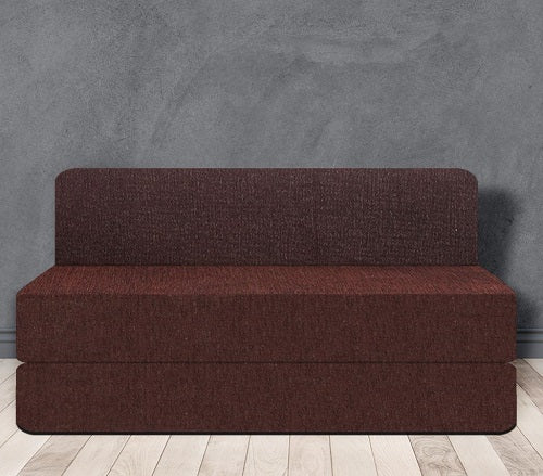 Chenille Sofa Bed (5' x 6') | Dotted Brown
