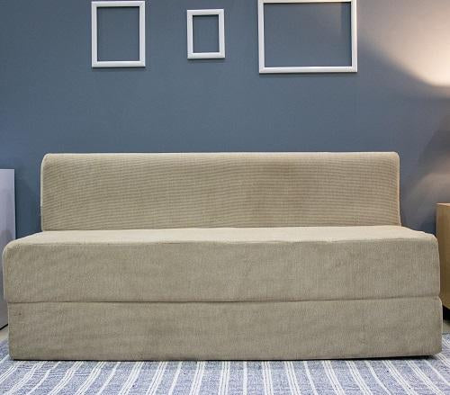 Chenille Sofa Bed (6' x 6') | Dotted Cream