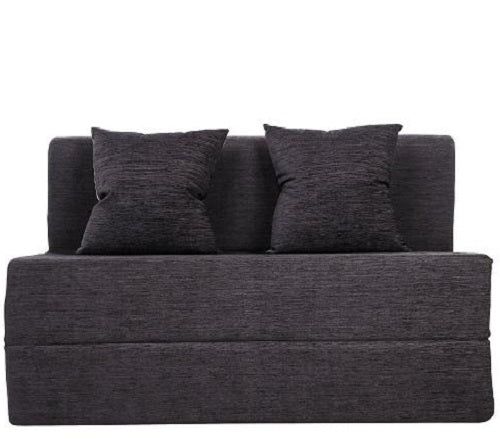 Moshi  Sofa Bed (4' x 6') - With 2 Cushions- Dark Grey Pattern