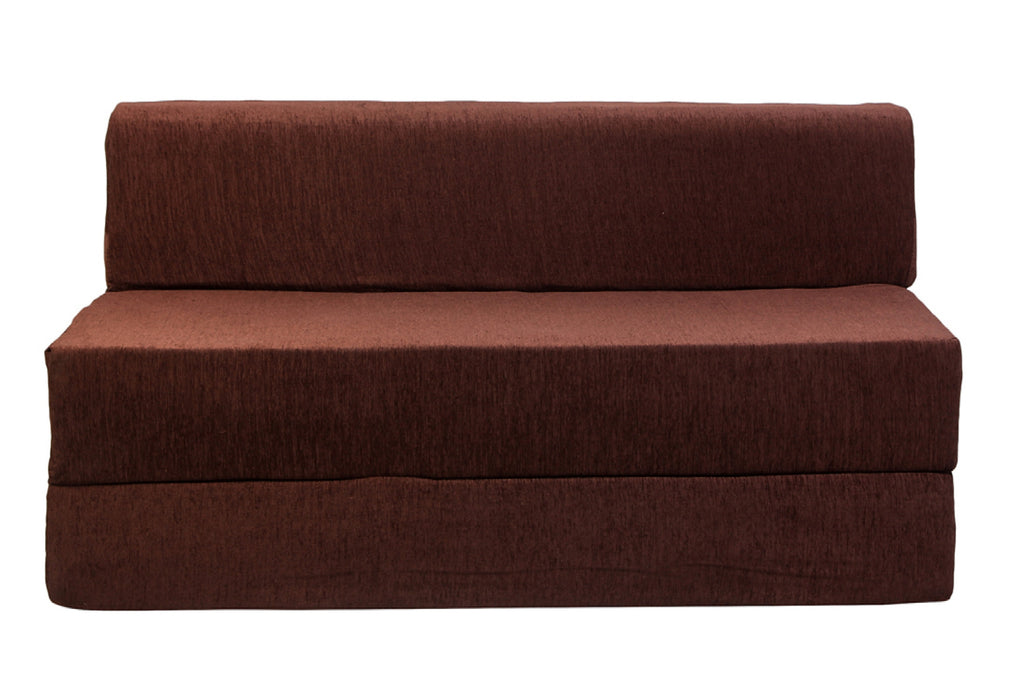 Molfino Sofa Cum Bed (6' x 6') | Chocolate Brown