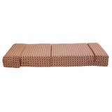 Poly Cotton Sofa Cum Bed - | (Cream Maroon, 3 x 6 ft ) -SCB-001725-CRMR