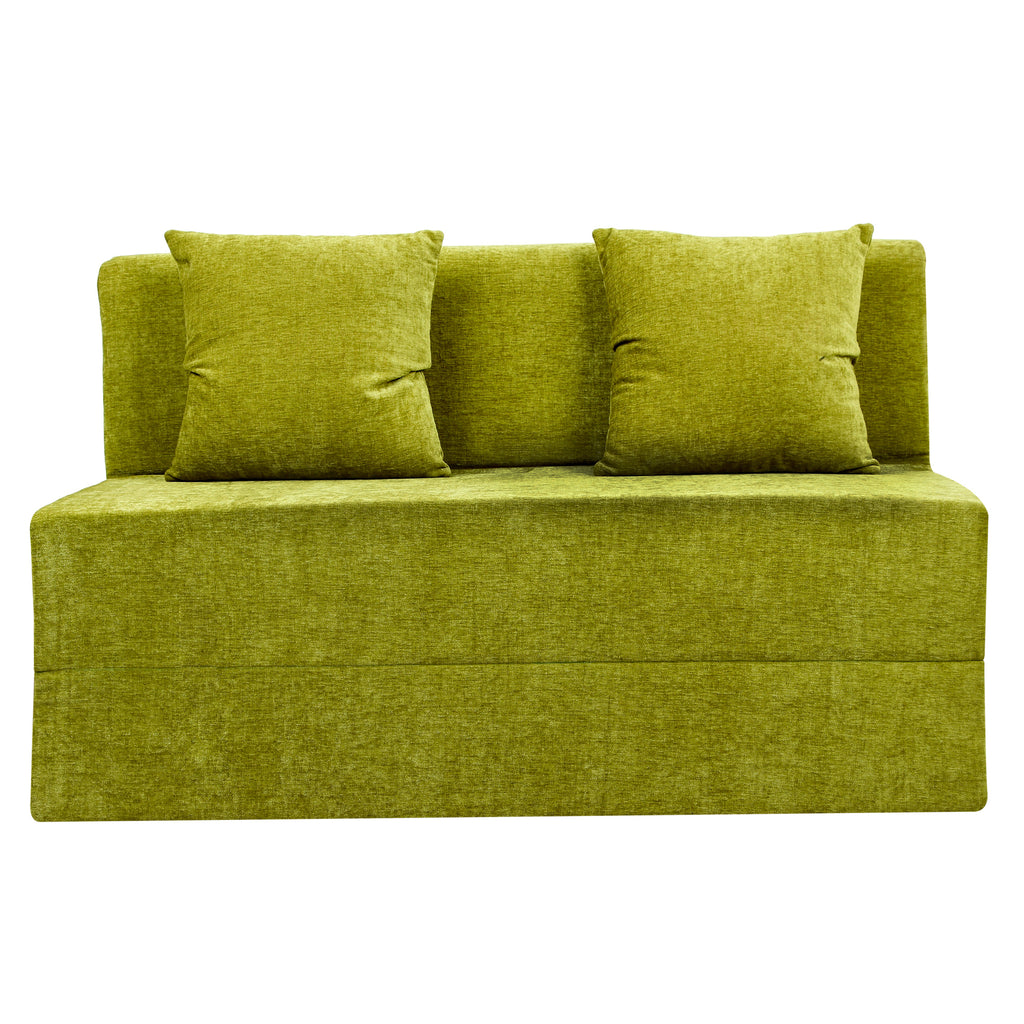 Moshi Sofa Bed (4' x 6') - With 2 Cushions | Parrot Green
