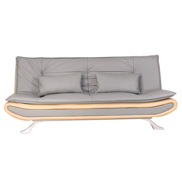 Uberlyfe Manchester 3 Seater Sofa Cum Bed | Grey and White Color