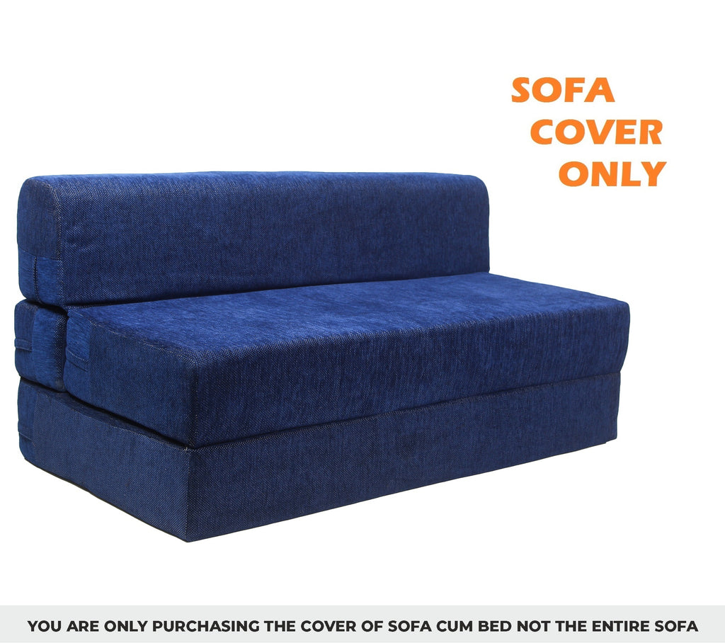 Chenille Sofa Cover (6' x 6') | Dotted Blue(Sofa Cover Only)