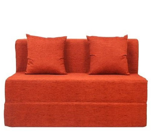 Moshi Sofa Bed (4' x 6') - With 2 Cushions | Orange