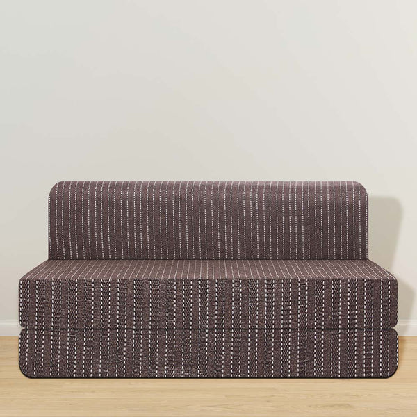 Jute Sofa Cum Bed (6' X 6') | Brown