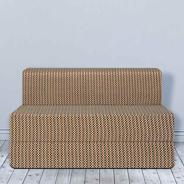 Cotrise Sofa Bed (5' X 6') |  Check Brown