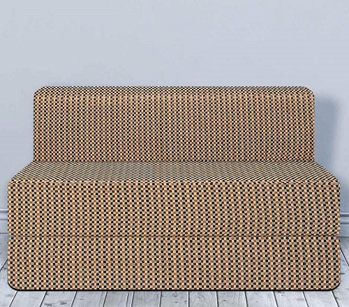 Cotrise Sofa Cum Bed (6' X 6') | Check Brown