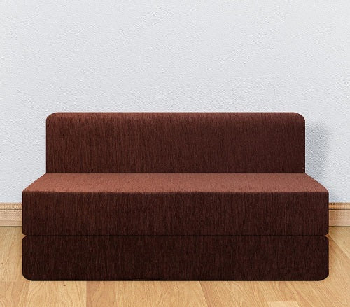 Molfino Sofa Cum Bed (5' x 6') | Chocolate Brown