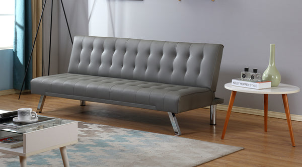 Uberlyfe Cardiff 3 Seater Sofa Cum Bed | Grey Color.