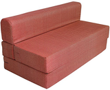 Cotrise Sofa Cum Bed - Check Red | 6' X 6' Feet. (SCB-001728-CHK-RD)