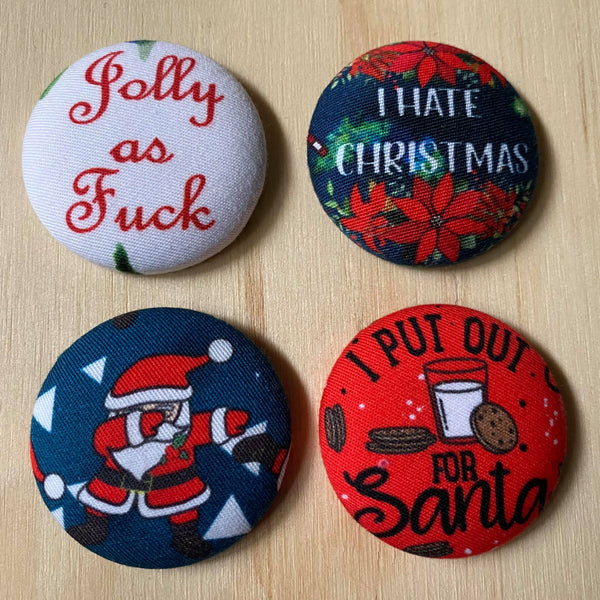 attitude santa magnets - set of four