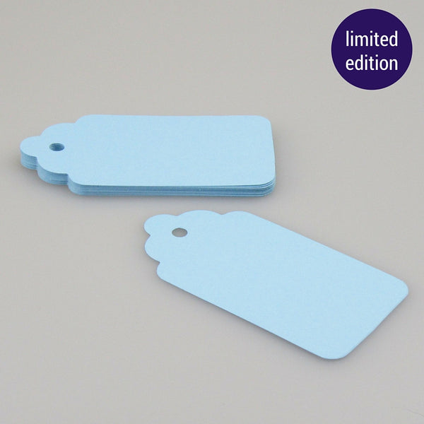 scalloped tags – powder blue (limited edition)