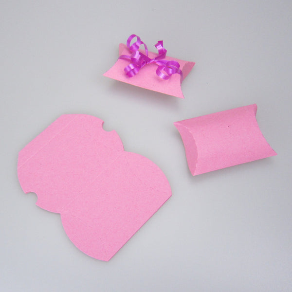 coloured paper mini pillow boxes