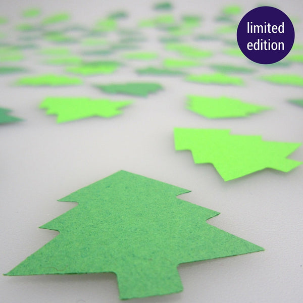 mini paper Christmas trees