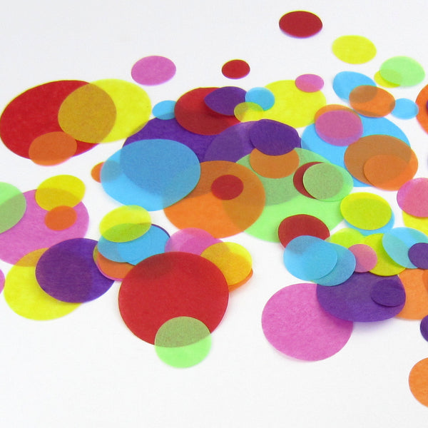 confetti  (10 packs) - choose your own colours