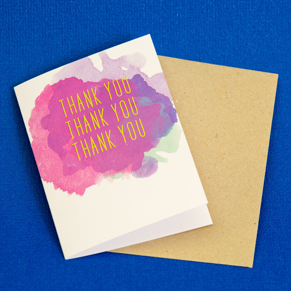 thank you, thank you, thank you card