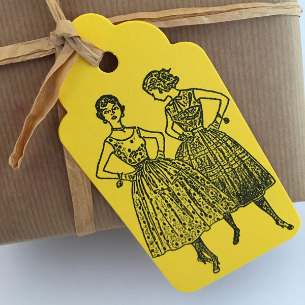 retro gift tags (bulk set)