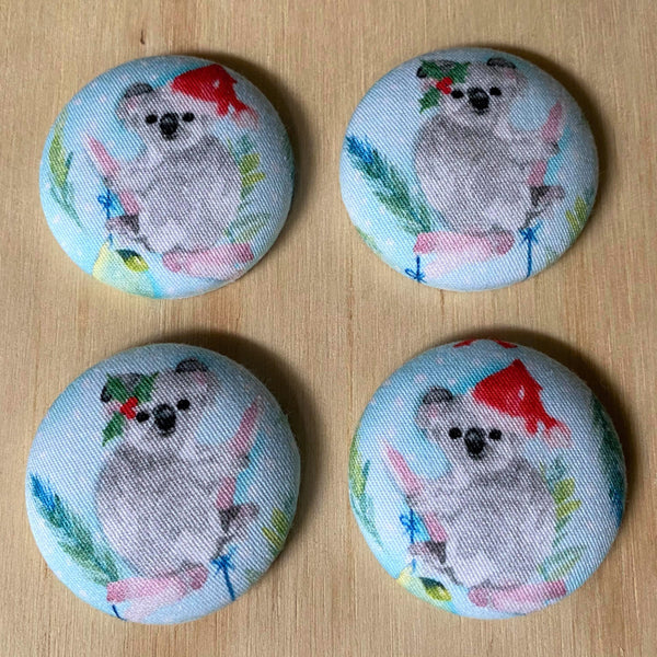 xmas koala magnets - set of four