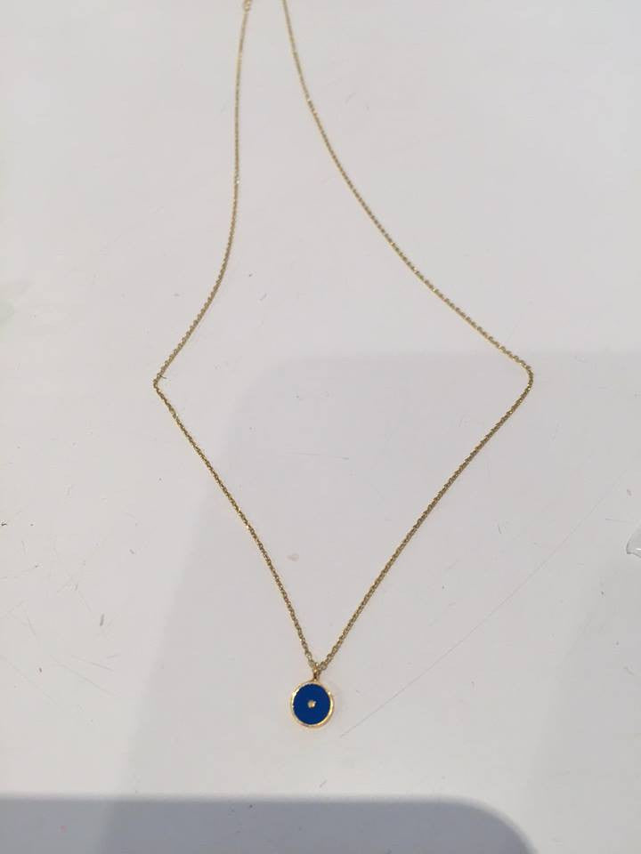 Fine Collection Necklace- Coloured Circle