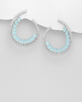 Fine collection earring - Half oval