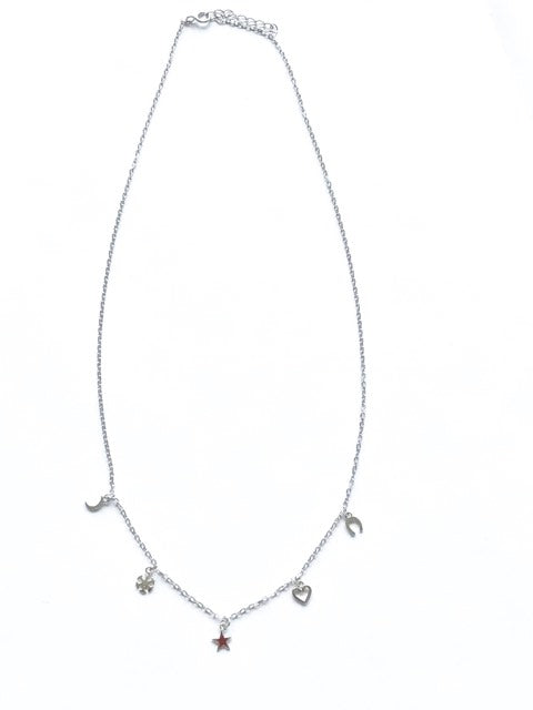 Fine Collection necklace- Silver with mini charms