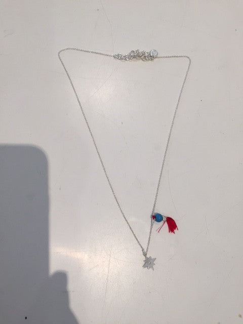 Fine Collection Necklace- Star and Blue bead