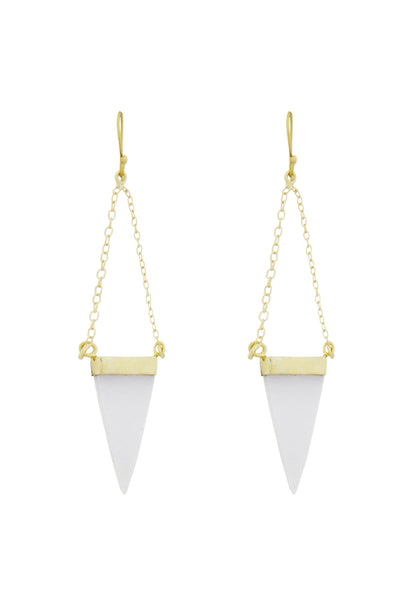 Crystal Earrings-Gold Triangle