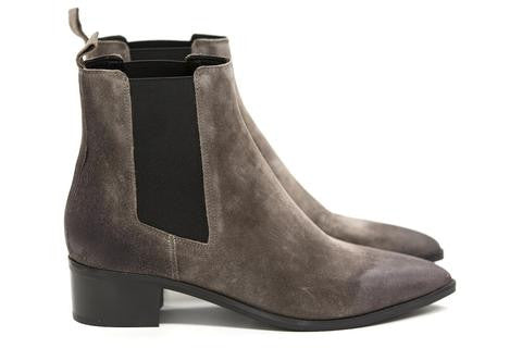 Carina Taupe Suede Boots - DOF