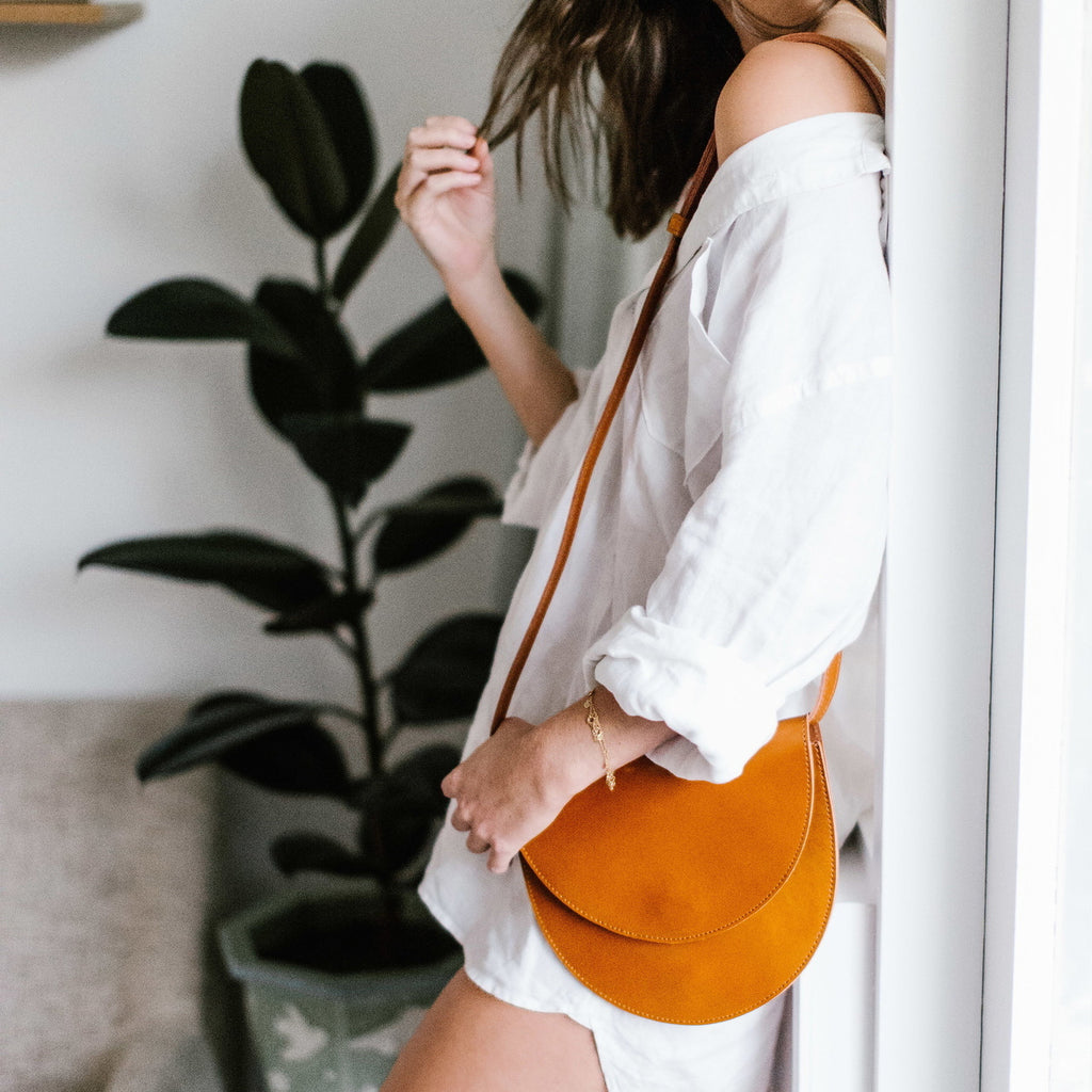Leather Satchel Bag - Copper & Cole