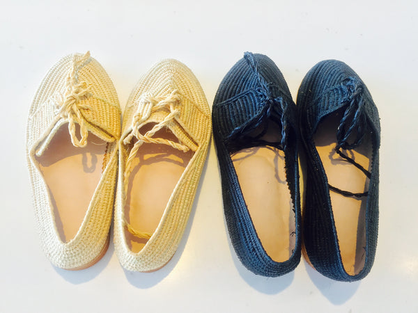 rattan slip on shoes