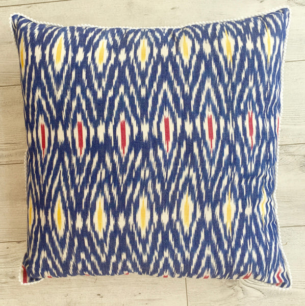 Aztec Blue Yellow Pillow