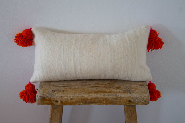 Pillow- Wool Pom Pom