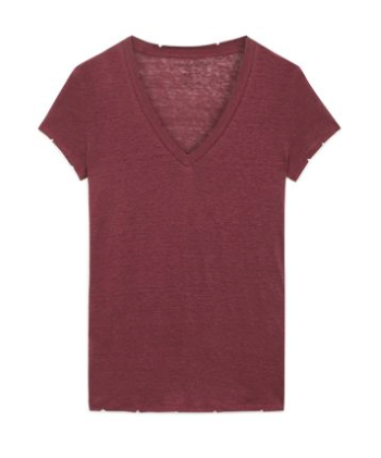 Stella V-neck Tee - FINE PARIS