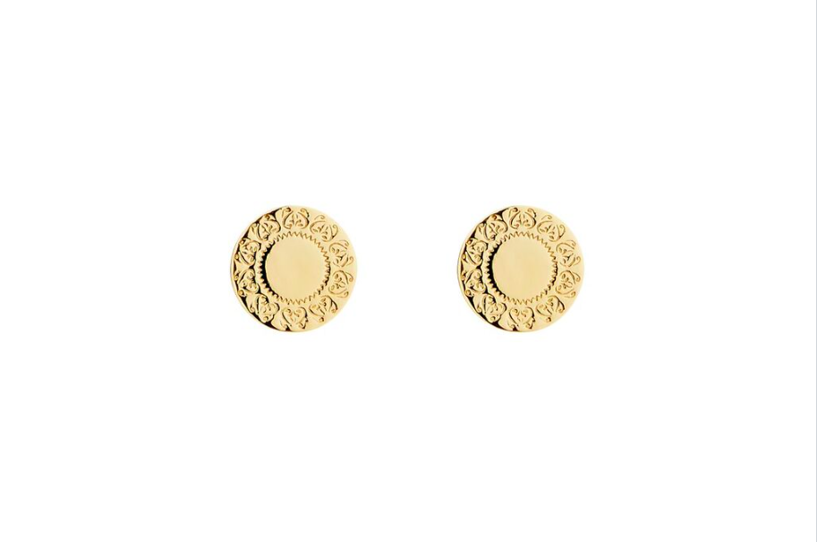 Fine Collection Studs - Gold Rio