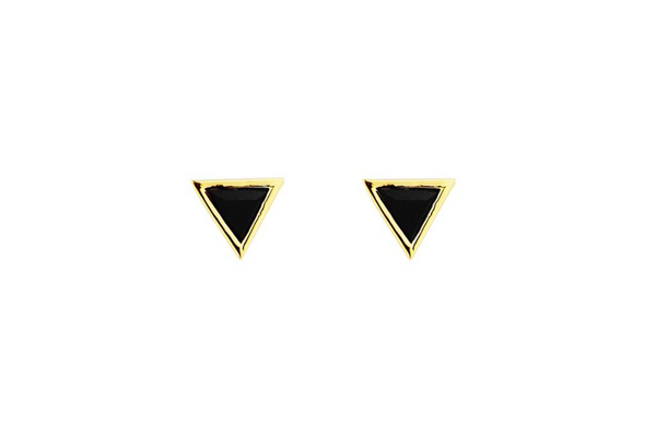 Fine Collection Studs- Triangle Stone