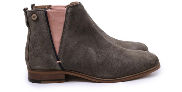 Chelsea- Grey Suede Boot