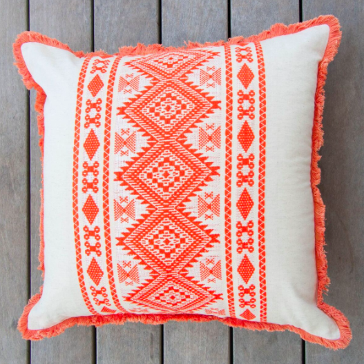 Pillow- Orange Aztec