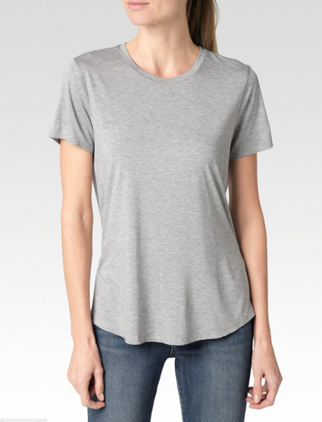 Bexley Tee Light Heather Grey - PAIGE