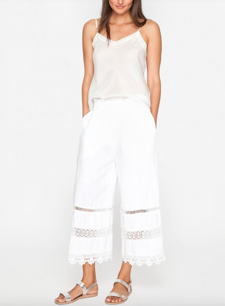 Trim Linen Cropped Pants - JOHNNY WAS