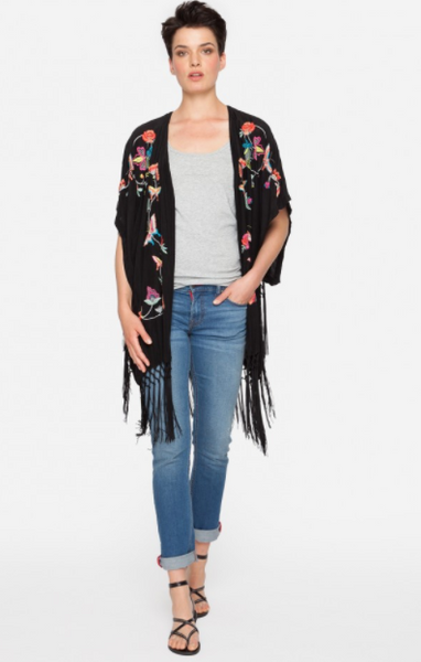 Fairytale Embroidered Kimono - JOHNNY WAS