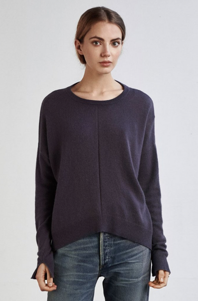 Anthracite Cashmere Knit - Charli