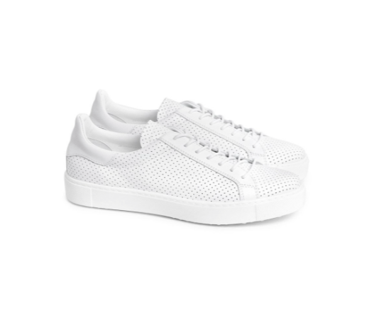 Liberty White Leather Sneaker- DOF
