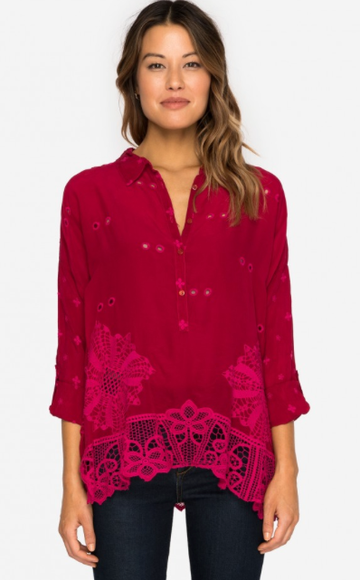 Johnny Was- Whitley Scalloped Blouse