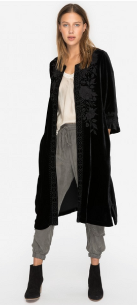 Magdalene Velvet Midi Coat - JOHNNY WAS