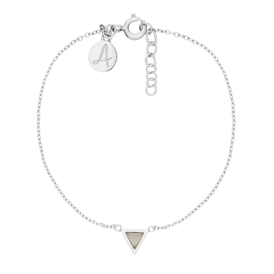 Fine Collection Bracelet- Silver Triangle Stone