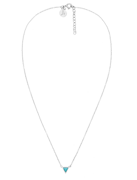 Fine Collection Necklace- Silver Triangle Stone