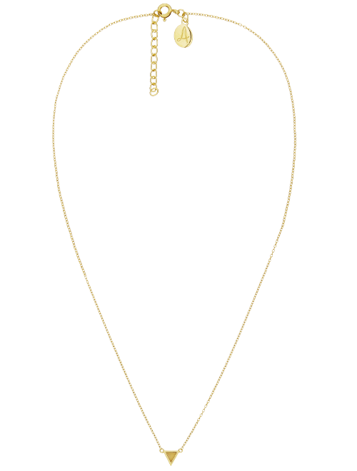 Fine Collection Necklace- Gold Triangle Stone